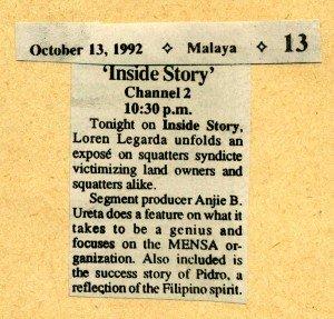 19921013 Malaya - Inside Story