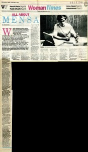 19930129 Manila Times - All About Mensa