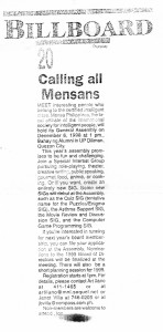 19981203 Manila Times - Calling all Mensans